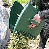 2 palas de jardín para hojas de jardín, rastrillos de mano para...