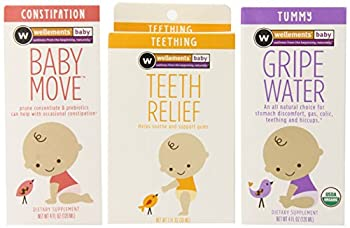 Wellements Organic Baby Remedy Essentials Pack of 3   1  Baby Constipation Support 4 Fl Oz  1  Baby Tooth Oil 0.5 Fl Oz   1  Gripe Water 4 Fl Oz -Packaging May Vary