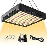 WOLEZEK Pflanzenlampe LED 1000W, Reflektor Grow Lampe Vollspektrum 3500K 660nm Wachstumslampe für Zimmerpflanzen mit Rope...