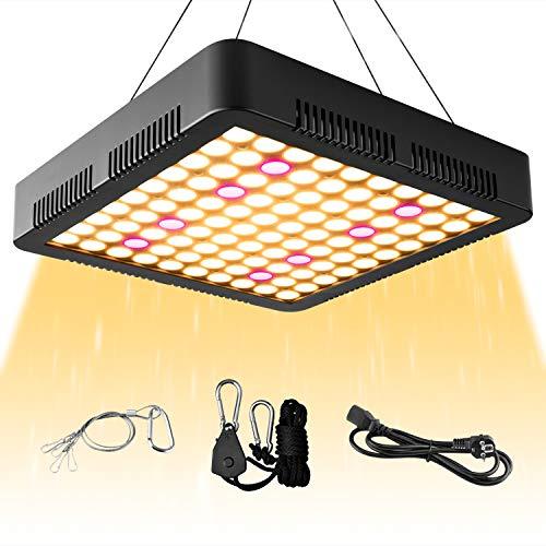 WOLEZEK Pflanzenlampe LED 1000W, Reflektor Grow Lampe Vollspektrum 3500K 660nm Wachstumslampe für Zimmerpflanzen mit Rope Hanger Gemüse und Blumen