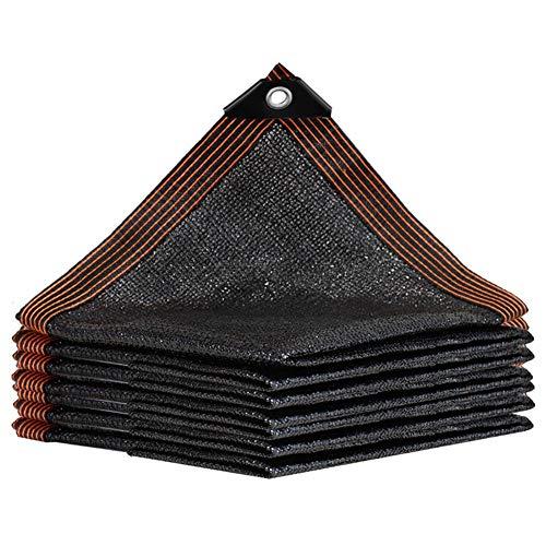 Filet d'ombrage Tissu/Voile Pare-soleil Résistant pour Jardin de Patio, Chiffrement Résistant À 95% Aux UV avec Oeillets, Noir Filet D'ombrage (Size : 5×5m)