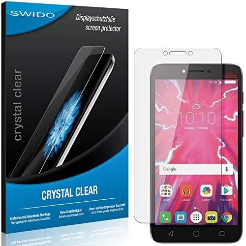 SWIDO Schutzfolie für Alcatel Pixi 4 Plus Power [2 Stück] Kristall-Klar, Hoher Festigkeitgrad, Schutz vor Öl, Staub & Kratzer/Glasfolie, Bildschirmschutz, Bildschirmschutzfolie, Panzerglas-Folie