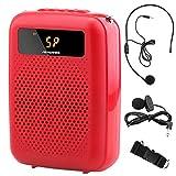 Minterest Amplificador de Voz(12W), 1200 mAh Multifuncional Mini Altavoz de Voz Portátil Reducción de Ruido con Micrófono Lavalier y con Cable para Maestros Vendedor de Voz
