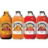 Bundaberg 4 Flavor Variety Pack,Ginger Beer, Blood Orange, Guava, Peach Sparkling Fruit Drinks, 12.7...
