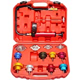 AutoWanderer Tool Radiator Pressure Tester Kit & Coolant Pressure Tester Kit with 12 Pcs Universal Adapters Coolant System Pressure Tester for Vehicle