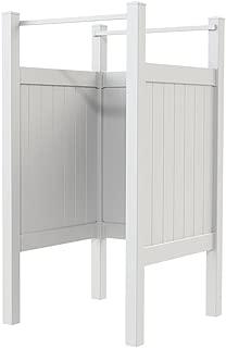 YardSmart 73040244 Outdoor Third Wall Shower Kit, Outdoor Shower Outdoor Shower, White