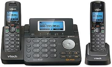 VTech DS6151-11 DECT 6.0 2-Line Expandable Cordless Phone + (1) DS6101-11 Accessory Handset, Black photo