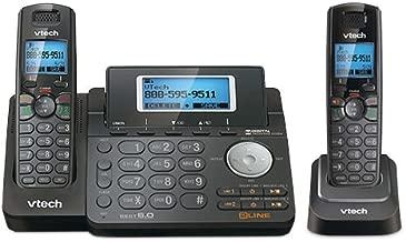 VTech DS6151-11 DECT 6.0 2-Line Expandable Cordless Phone + (1) DS6101-11 Accessory Handset, Black