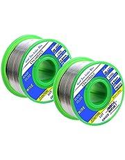 Owootecc Soldeertin, 100 g, soldeerdraad soldeertin met vloeimiddel, soldeertin met colofonium solderen (Rosin Core Solder) Sn99,3% Cu0,7%, 0,6 mm, 100 g