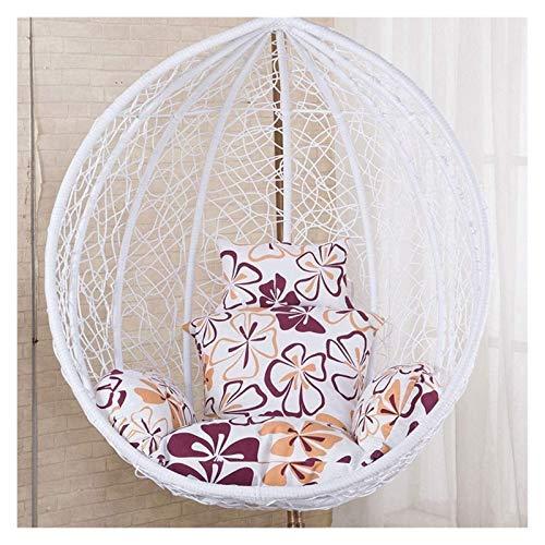 Cojines al aire libre para Sillas de Patio Colgando Rattan mecedora huevo cojines de la silla en forma de cojín con apoyabrazos al aire libre / cubierta Jardín Muebles de terraza Silla de cubierta Coj