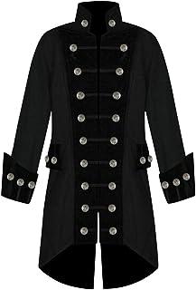 d8d91535e8 Veste FantaisieZ Homme Manteau Longue de Fête Gothique Veste Vintage Mode  Costume Uniforme Tuxedo Manteau Rétro