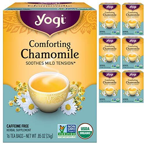 Yogi Tea - Comforting Chamomile (6 Pack) - Soothes Mild Tension - 96 Tea Bags