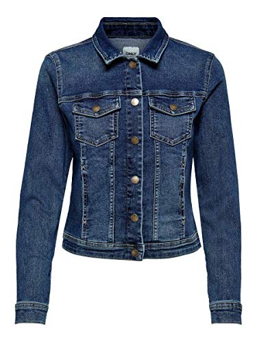 ONLY Female Jeansjacke Kurze 36Dark Blue Denim