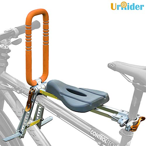 Photo of UrRider Child Bike Seat,Front Mounted Bicycle Seats for Children 2-6 Years,Foldable & Ultralight Baby Kids Bicycle Seats,Compatible with Mountain Bikes,Hybrid Bikes,Fitness Bikes