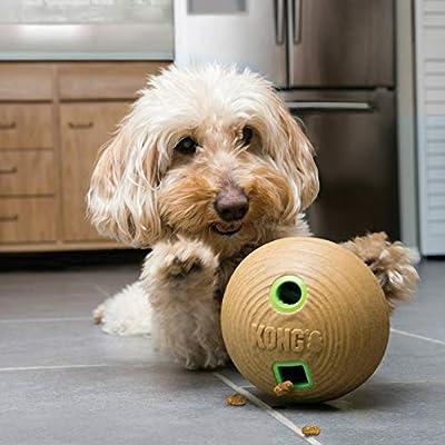 KONG Bamboo Treat Dispenser Ball Dog Toy Medium