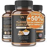 Organic Turmeric Curcumin with BioPerine, Ginger & Triphala 2250mg, 95% Curcuminoids. Maximum Potency, Joint Pain Relief, Healthy-Aging, Non-GMO, Gluten Free, Anti Inflammatory Supplement 120 Caps