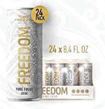 Imported All-Natural Energy Drink | FREZZOR Pure New Zealand | Freedom Pure Focus | All-Natural Berry Flavor | Superfood Antioxidants | Non-Caffeinated | 24 Pack