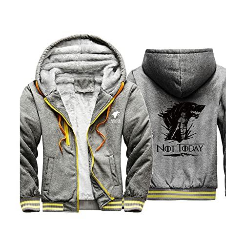 HOBEKOK Sudadera con capucha y cremallera para hombre, chaqueta de punto para adolescentes, manga larga, cálida, poliéster, impresión carta de viaje