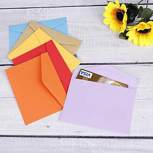 JAHEMU封筒ミニカラー封筒無地封筒長形メッセージカード12色結婚式誕生日案内状挨拶状封筒パーティー用品120枚
