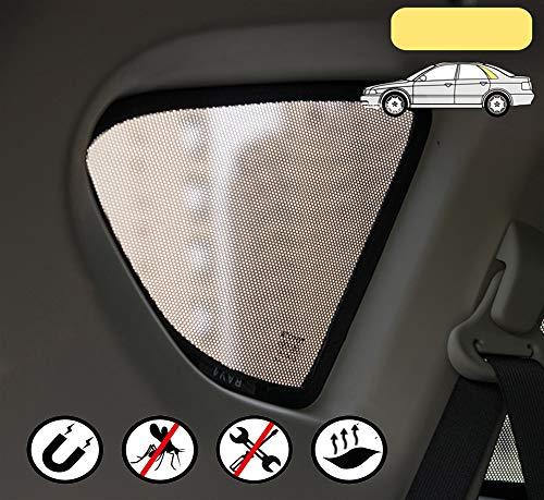 Ommda Magnet Mesh Sonnenschutz Auto Baby mit UV Schutz Schutz der Privatsphäre Anti Moskitonetz Sonnenschutz für Autoscheiben Dreiecksfenster 2 Stück