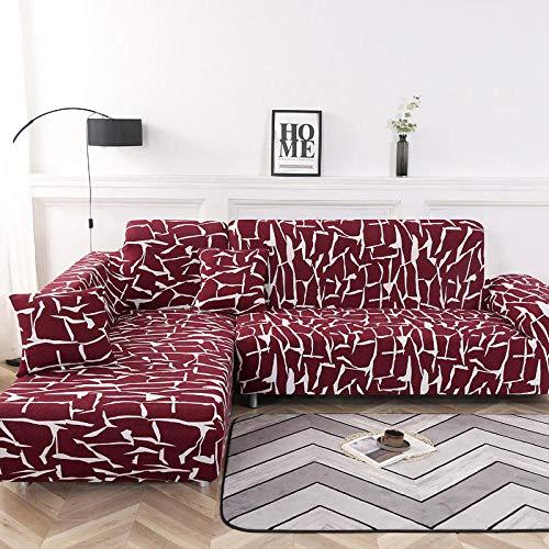 Suuki elasticas cubresofa,Funda Antideslizante para sofá,Fundas de sofá de Dormitorio,Funda de sofá,Protector de sofá de 1/2/3/4 plazas,Funda de sofá de Verano con Todo Incluido-re_3 plazas/sofá