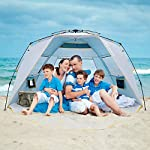 WolfWise 4-5 Person Easy Up Beach Tent UPF 50+ Instant Sun Shelter Canopy Outdoor Sport Umbrella Sun Shade Tent with… 5