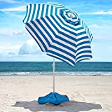 Beach Umbrella - 6.5ft Heavy Duty Windproof Tilt Portable...