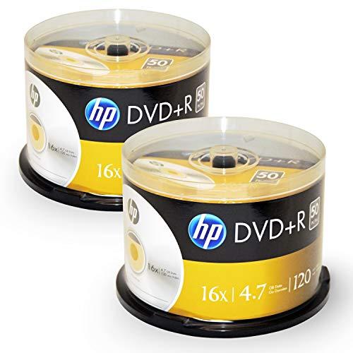 HP 100disc DVDR 16x Logo Top 2 x 50pk Spindle
