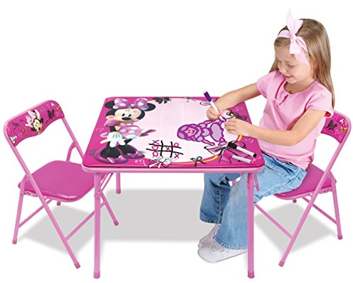 Minnie First Fashionista Erasable Activity Table Set with 3 Dry-Erase Markers