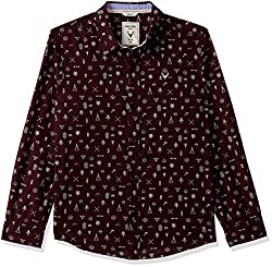 Allen Solly Boys  Checkered Regular Fit Shirt