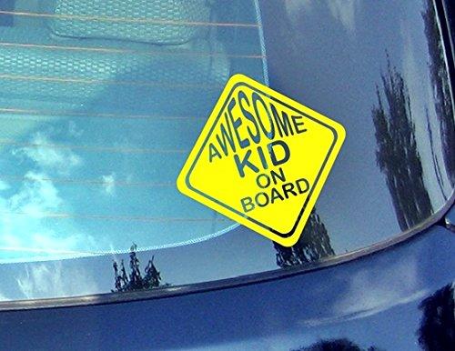 Awesome Kid on Board???Baby on Board Autocollant de voiture Drift Bumper fen?tre de voiture en vinyle dr?le van pour ordinateur portable C?ur D?cor Home Live enfants Funny Art mural Decal Stickers