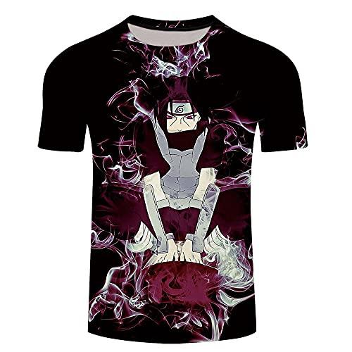 Japonesa Anime Mangas Cortas Camiseta,Ropa de Manga Corta Floja 3D-Xt60_2XLARGE