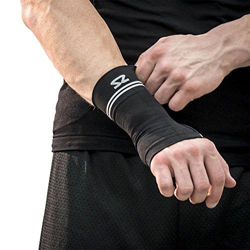 Zensah Compression Wrist Support - Wrist Sleeve for Wrist Pain, Carpal Tunnel - Wrist Support - Wrist Brace, Black, Medium