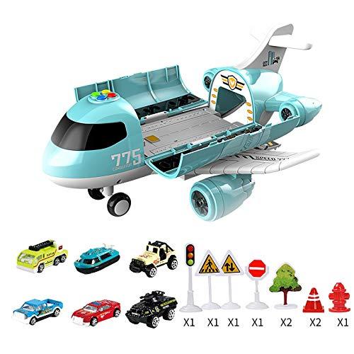 Spielzeug Kinder Flugzeug Gehirnspiel Baby DIY Simulation Transport Flugzeuge mit Lagerung Mini Car Kids Music Toy Lagerung Trägheitsebene