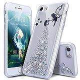 Coque iPhone 8 Etui,Coque iPhone 7,ikasus Bling Glitter Sparkle Brillant Étoile l'ange Fille Star Angel girl Modèle Transparente Silicone Gel TPU Souple Housse Etui Coque pour iPhone 8/7,Ange:Argent