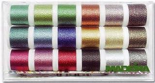 Madeira 8020 Clear Box: Metallic: Supertwist: 18 x 200m: Spools, Multi
