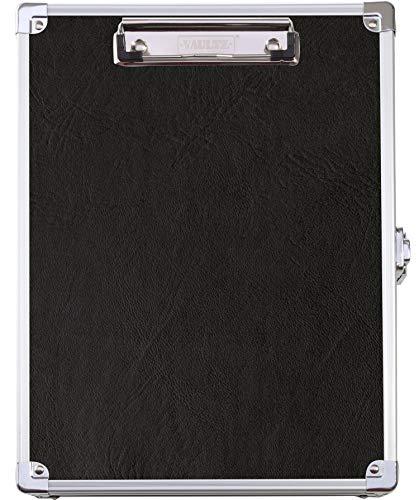 Vaultz Locking Storage Clipboard for Letter Size Sheets, Key Lock, Black (VZ00151)