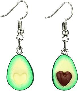 Earring Stud Jewely Women Fashion Cute Heart Avocado Fruit Dangle Drop Hook Earrings Jewelry Gifts