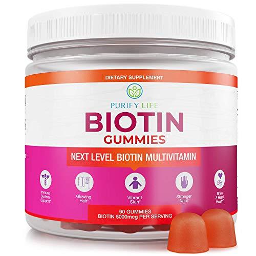 Anti Aging Biotin Gummies for Hair Growth, Skin, and Stron...