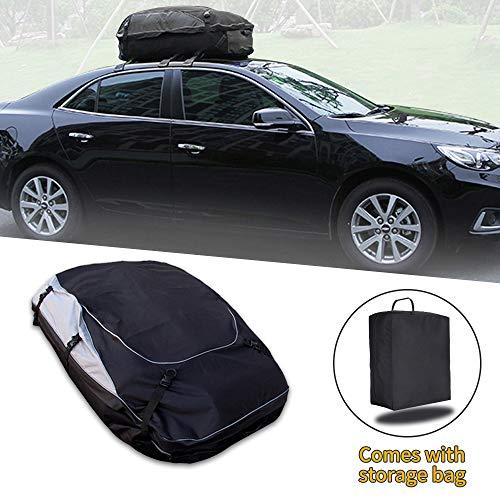Jiahe Auto Dachbox Tasche Aufbewahrungsbox Re Nault Logan Sanddero Duster Kadjar Clio Espace,Funktioniert mit oder ohne Dachgepäckträger,Auto Dachbox für Reisen und Gepäcktransport, Schwarz(L)