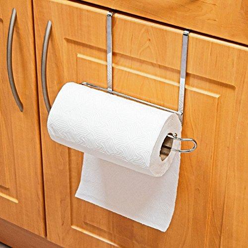 Top Home Solutions® Deluxe 27 cm överskåp dörr kök handduk rulle förvaring ställ hållare