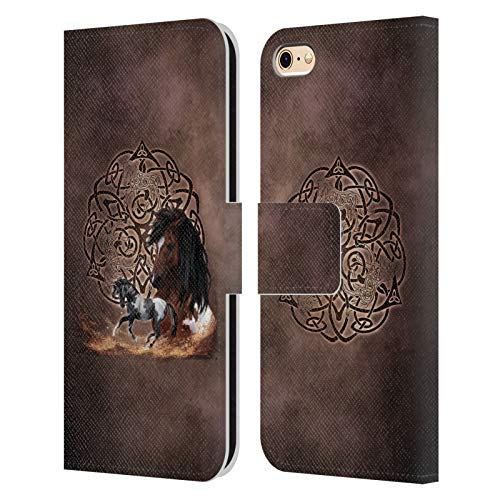 Head Case Designs Officially Licensed Brigid Ashwood Horse Celtic Wisdom Leather Book Wallet Case Cover Compatible with Apple iPhone 6 / iPhone 6s