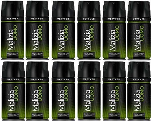 Malizia Uomo Vetyver Deodorant Spray 12x150ml