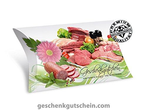 50 Stk. Premium Gutschein Boxen für Metzger, Fleischer M301, LIEFERZEIT 2 bis 4 Werktage !