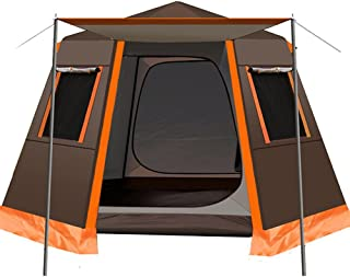 Family Outdoor Camping Tent Automatic Pop-Up Tent 3-4 Person Double Layer Instant Tent Easy Set Up Ideal Outdoor Gifts (Co...