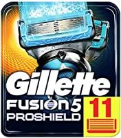 Gillette Fusion5 ProShield Lamette da Barba, 11 Ricambi da 5 Lame, Doppia Striscia Lubrificante, Fino a 1 Mese di...
