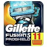 Gillette Fusion 5 ProShield Chill Cuchillas de Afeitar Hombre, Paquete de 11 Cuchillas de Recambio
