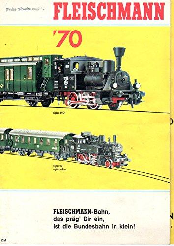 """fleischmann \'70. spur HO, spur N picollo katalog. \""""fleischmann-bahn, das präg dir ein, ist die bundesbahn in klein!\"""""""