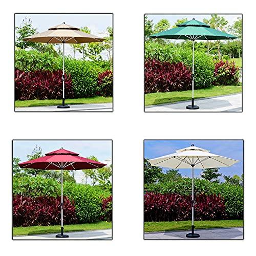 Outech Sombrilla de Patio Sombrillas de Exterior Parasol de Mesa de Mercado, Parasole de Paraguas Resistente, para Jardín, Césped, Piscina, Sin Base, Selección Multicolor