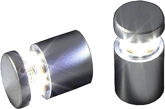 JIAN (Pack / 2 eenheden) D25XL25mm Satijn Silver Aluminium LED Door Hole Panel Ondersteuning Stand Offs Schroef Glas Acryl...